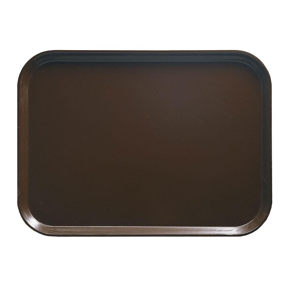 """Cambro 1014116 Rectangular Camtray - 10-5/8x13-3/4"""" Brazil Brown"""
