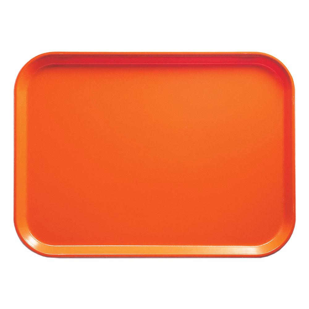 "Cambro 1014220 Rectangular Camtray - 10-5/8x13-3/4"" Citrus Orange"