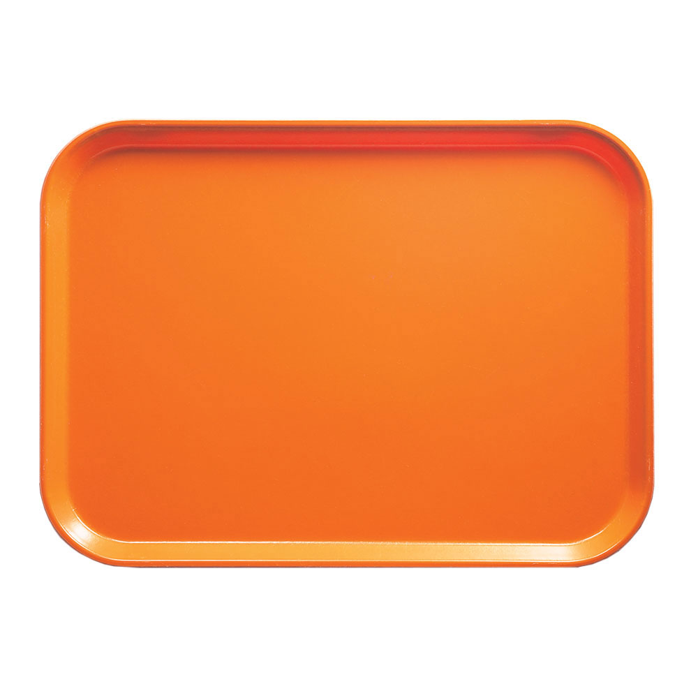 """Cambro 1014222 Rectangular Camtray - 10-5/8x13-3/4"""" Orange Pizzazz"""
