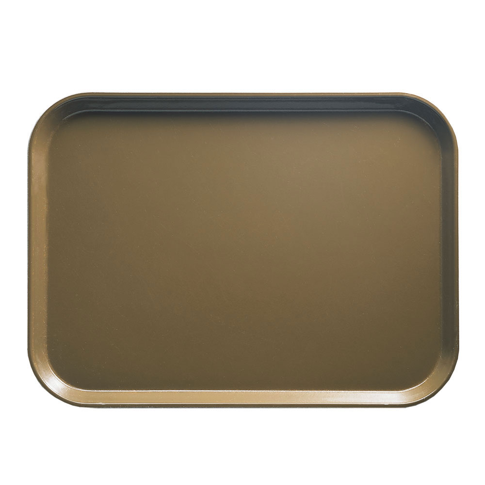 "Cambro 1014513 Rectangular Camtray - 10-5/8x13-3/4"" Bay Leaf Brown"