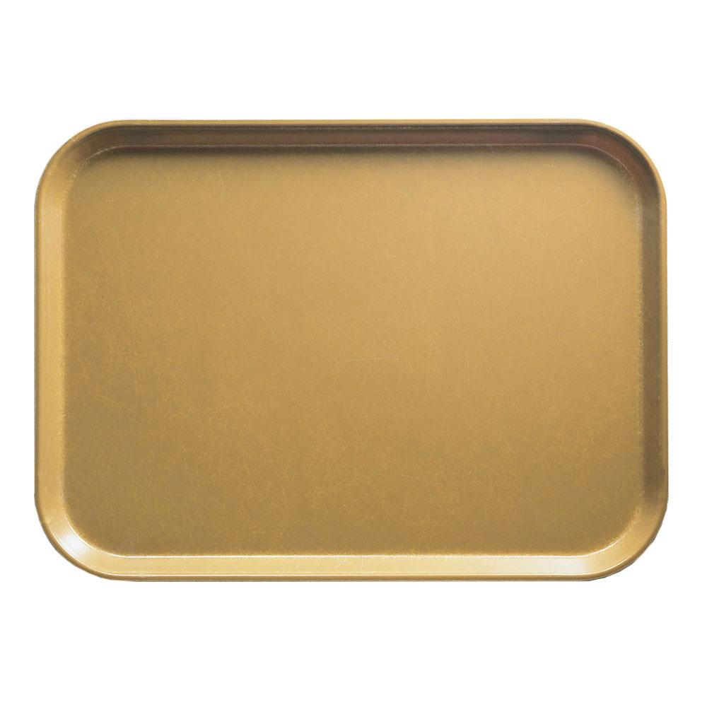 """Cambro 1014514 Rectangular Camtray - 10-5/8x13-3/4"""" Earthen Gold"""