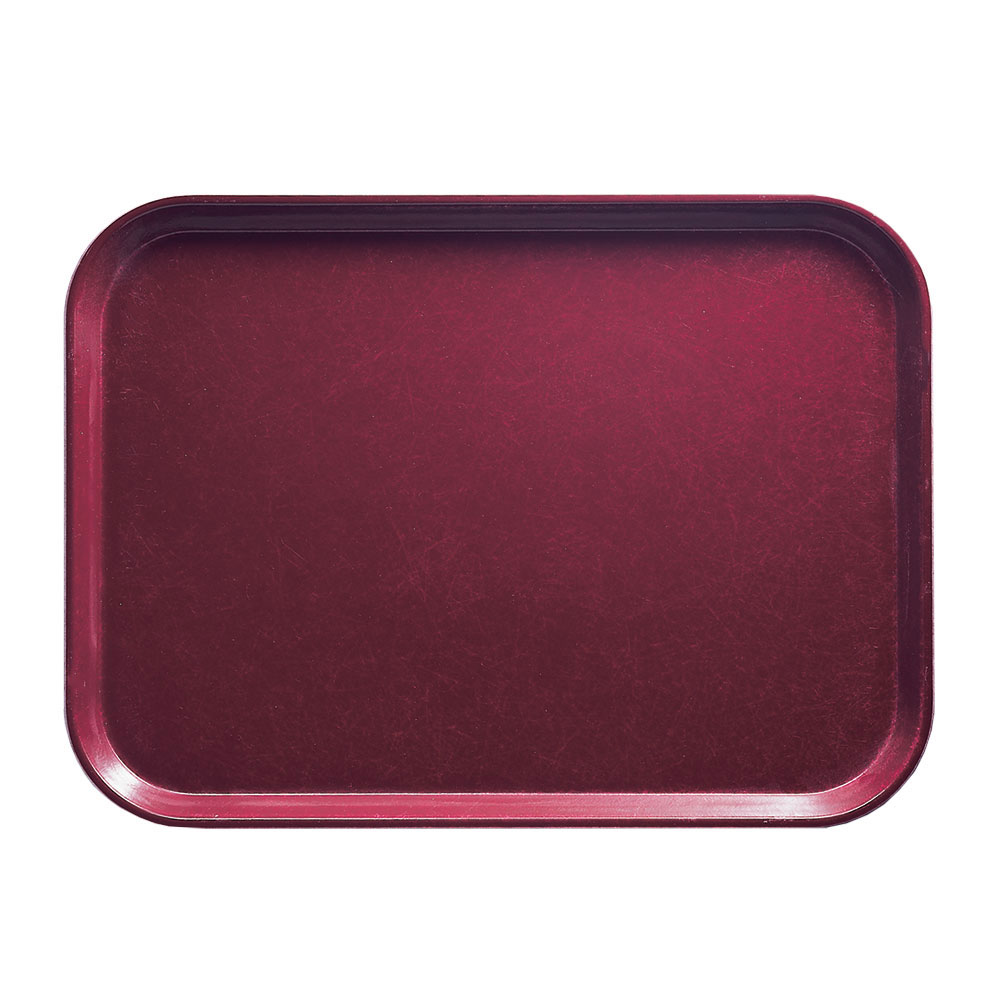 "Cambro 1014522 Rectangular Camtray - 10-5/8x13-3/4"" Burgundy Wine"