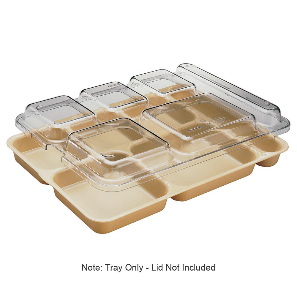 """Cambro 10146DCP161 Rectangular Camwear Separator Tray - 6-Compartment, 10x14-5/32"""" Tan"""