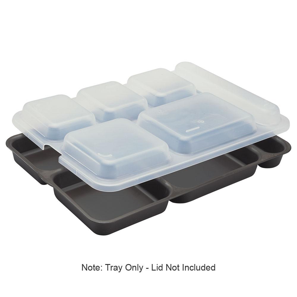 """Cambro 10146DCP167 Rectangular Camwear Separator Tray - 6-Compartment, 10x14-5/32"""" Brown"""