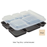 "Cambro 10146DCW133 Rectangular Camwear Separator Tray - 6-Compartment, 10x14-5/32"" Beige"