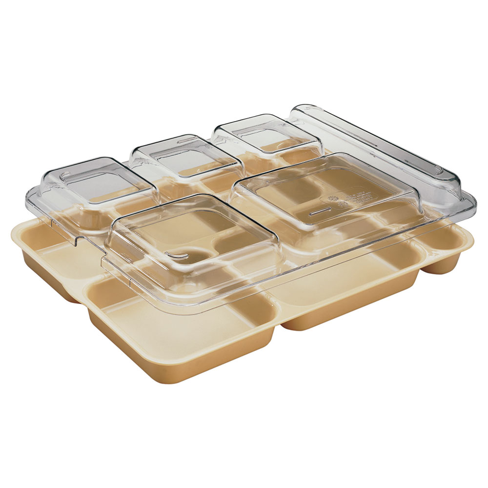 "Cambro 10146DCWC135 Separator Tray Lid - 10x14-5/32"" Clear"