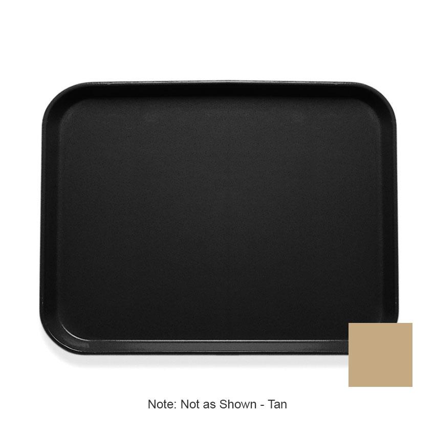 """Cambro 1014CL161 Rectangular Camlite Tray - 10-5/8x13-3/4"""" Tan"""