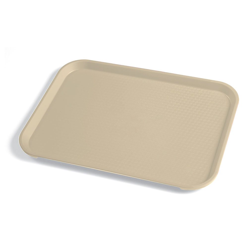 "Cambro 1014FF104 Rectangular Fast Food Tray - 10-7/16x13-9/16"" Desert Tan"