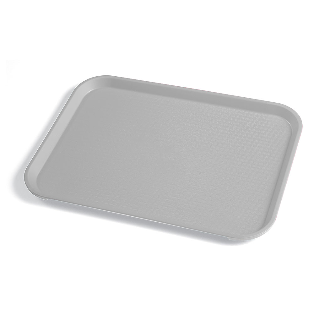 "Cambro 1014FF107 Rectangular Fast Food Tray - 10-7/16x13-9/16"" Pearl Gray"