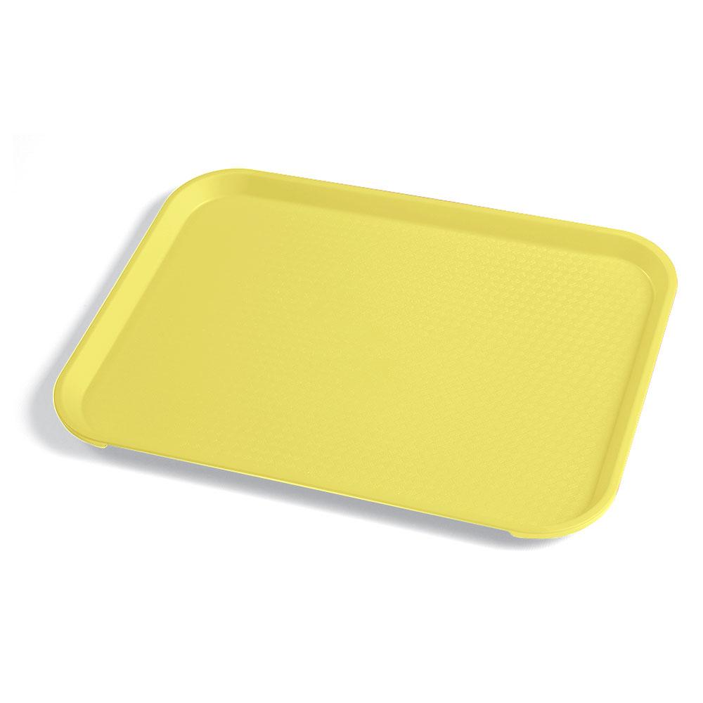 "Cambro 1014FF108 Rectangular Fast Food Tray - 10-7/16x13-9/16"" Primrose Yellow"