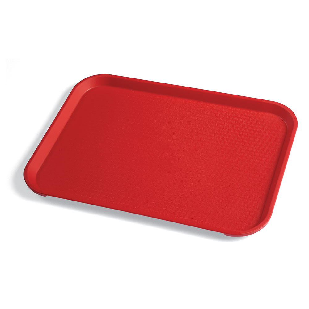 "Cambro 1014FF163 Rectangular Fast Food Tray - 10-7/16x13-9/16"" Red"