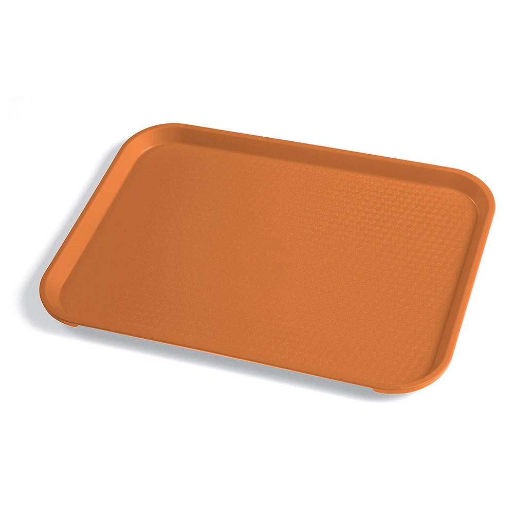 "Cambro 1014FF166 Rectangular Fast Food Tray - 10-7/16x13-9/16"" Orange"