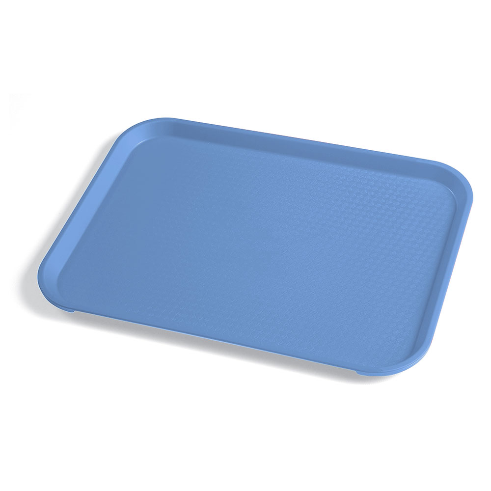 "Cambro 1014FF168 Rectangular Fast Food Tray - 10-7/16x13-9/16"" Blue"