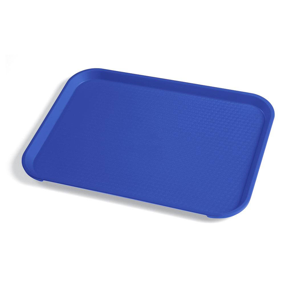 "Cambro 1014FF186 Rectangular Fast Food Tray - 10-7/16x13-9/16"" Navy Blue"