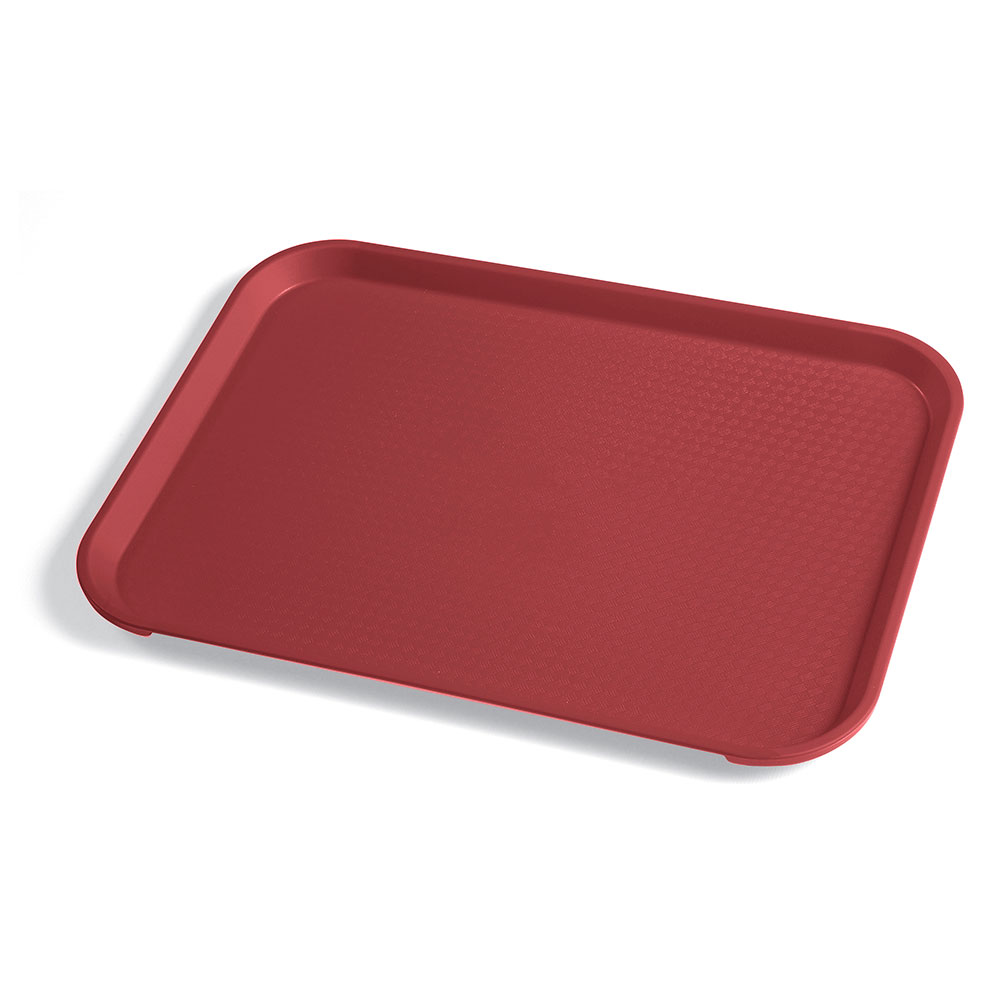 "Cambro 1014FF416 Rectangular Fast Food Tray - 10-7/16x13-9/16"" Cranberry"