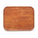 "Cambro 1015309 Rectangular Camtray Insert - 10-1/8x15"" Java Teak"
