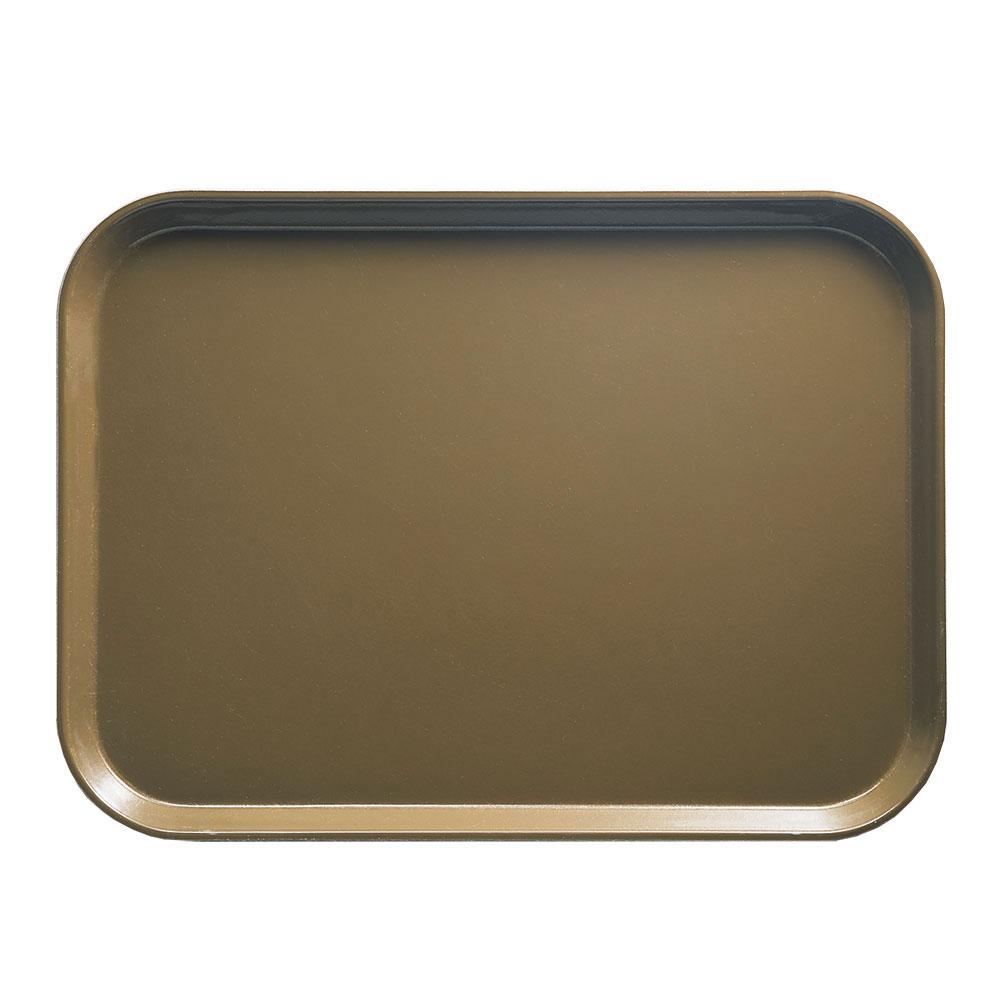 "Cambro 1015513 Rectangular Camtray Insert - 10-1/8x15"" Bay Leaf Brown"