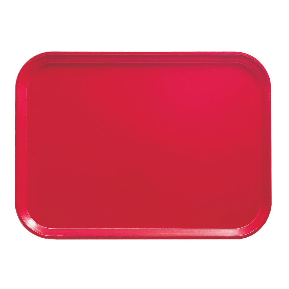 """Cambro 1015521 Rectangular Camtray Insert - 10-1/8x15"""" Cambro Red"""