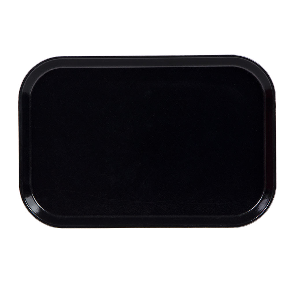 "Cambro 1015MT110 Rectangular Market Display Tray - 10-1/8x15x3/4"" Black"