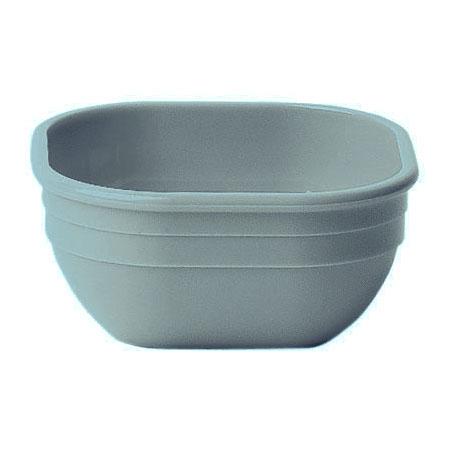 "Cambro 10CW401 4"" Square Camwear Bowl - 9.4-oz Capacity, Slate Blue"