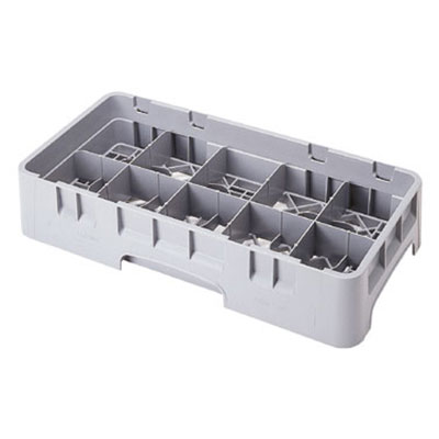 Cambro 10HC258151 Camrack Cup Rack - 10-Compartment, Half-Size, Soft Gray
