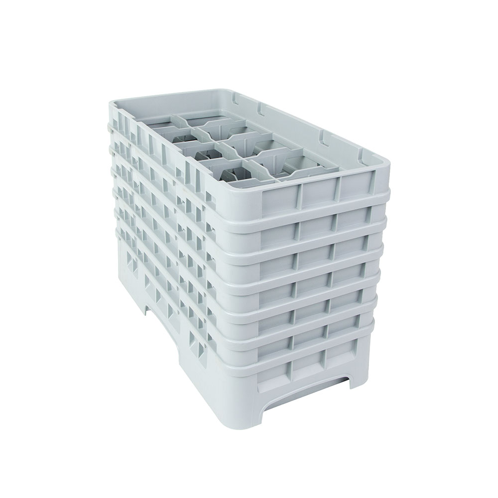 Cambro 10HS1114151 Camrack Glass Rack - (6)Extenders, 10-Compartments, Soft Gray