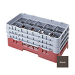 Cambro 10HS1114167 Camrack Glass Rack - (6)Extenders, 10-Compartments, Brown