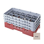 Cambro 10HS1114184 Camrack Glass Rack - (6)Extenders, 10-Compartments, Beige