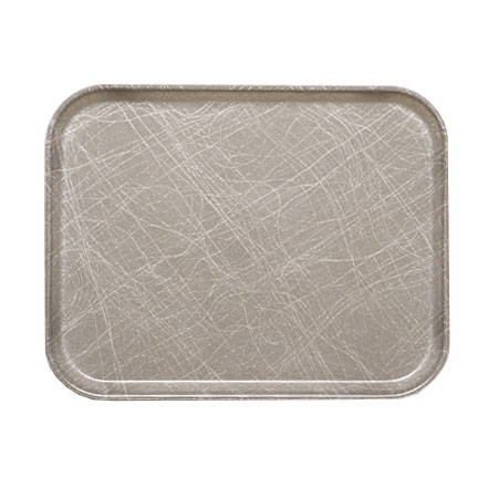 "Cambro 1116215 Rectangular Camtray Insert - 11x16"" Abstract Gray"