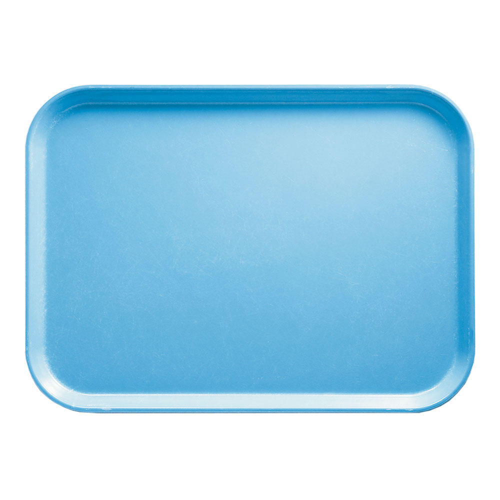 "Cambro 1116518 Rectangular Camtray Insert - 11x16"" Robin Egg Blue"