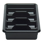 Cambro 1120CBR110 Cambox Cutlery Box - 4-Compartment, Hi-Impact Plastic, Black
