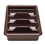 Cambro 1120CBR131 Cambox Cutlery Box - 4-Compartment, Hi-Impact Plastic, Dark Brown