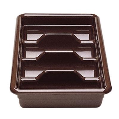 Cambro 1120CBR131 Cambox Cutlery Box - 4-Compartment, Hi-Impact Plastic, Dark Brown