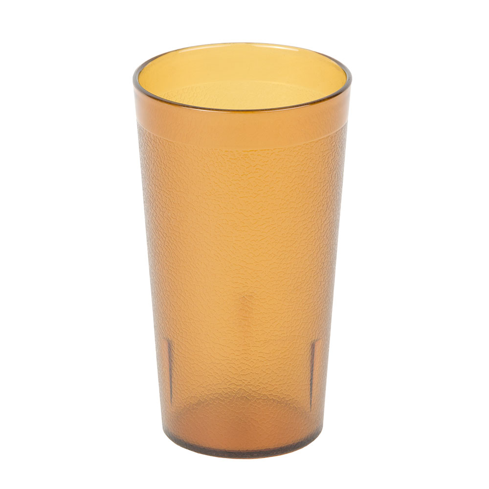Cambro 1200P2153 12.6-oz Colorware Tumbler - (Case of 12) Amber