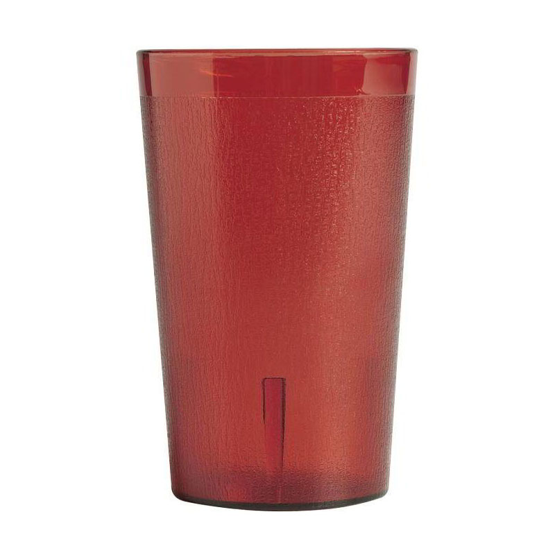 Cambro 1200P2156 12.6-oz Colorware Tumbler - (Case of 12) Ruby Red