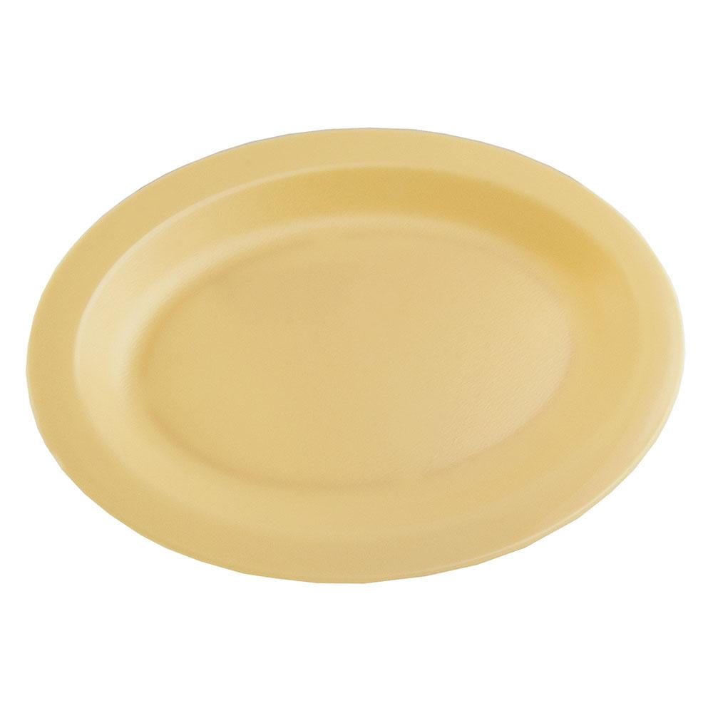 """Cambro 120CWP133 Oval Camwear Platter - 12x9"""" Beige"""