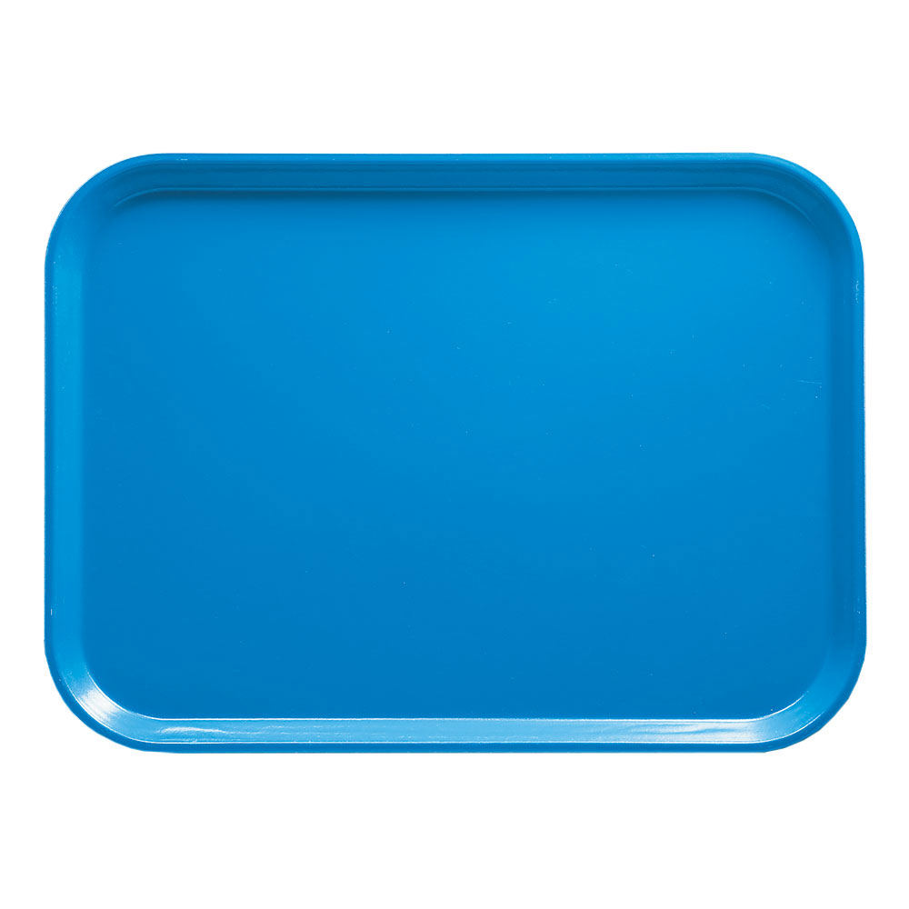 "Cambro 1216105 Rectangular Camtray - 12x17"" Horizon Blue"
