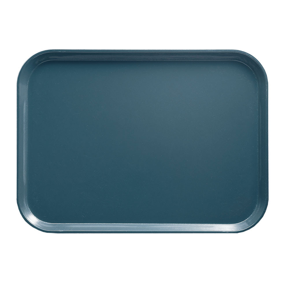"Cambro 1216401 Rectangular Camtray - 12x17"" Slate Blue"