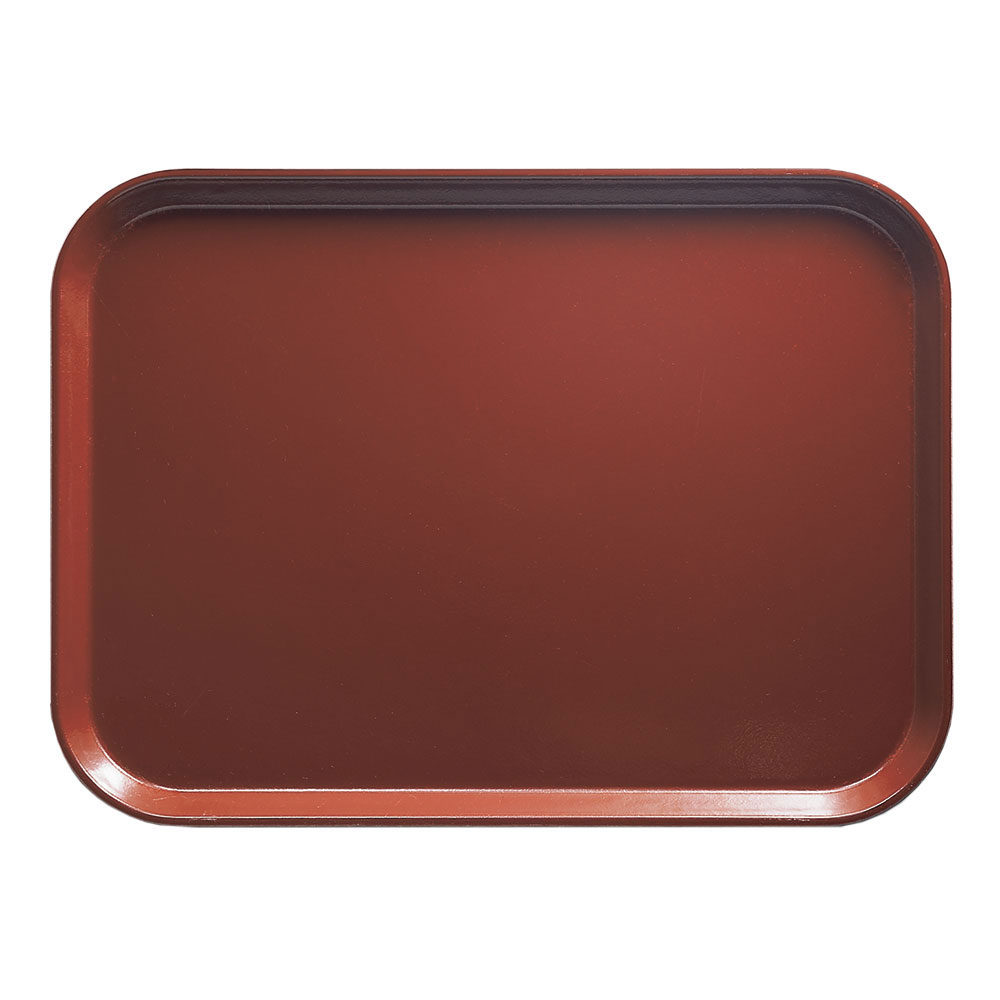 "Cambro 1216501 Rectangular Camtray - 12x17"" Real Rust"