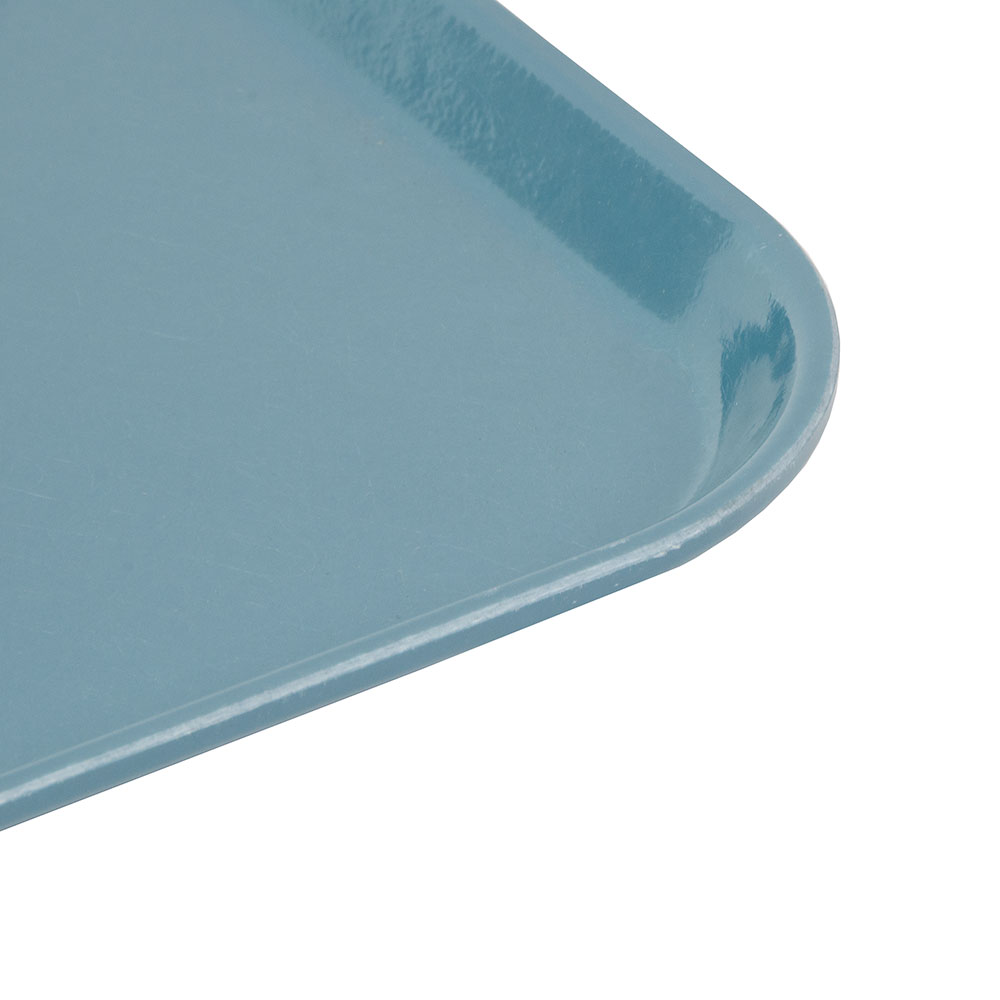 "Cambro 1216CL674 Rectangular Camlite Tray - 12x17"" Steel Blue"