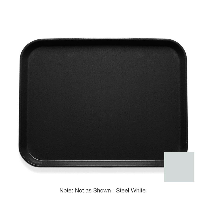"""Cambro 1216CL676 Rectangular Camlite Tray - 12x17"""" Steel White"""