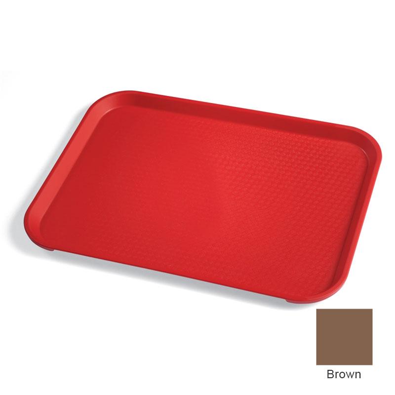 "Cambro 1216FF167 Rectangular Fast Food Tray - 12x16-1/8"" Brown"