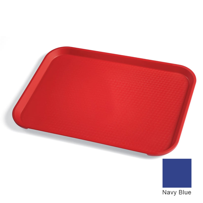 "Cambro 1216FF186 Rectangular Fast Food Tray - 12x16-1/8"" Navy Blue"