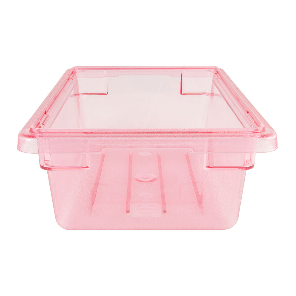 Cambro 12186CW467 3-gal Camwear Food Storage Container - Safety Red