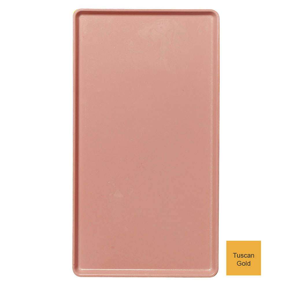"""Cambro 1220D171 Rectangular Dietary Tray - For Patient Feeding, 12x20"""" Tuscan Gold"""