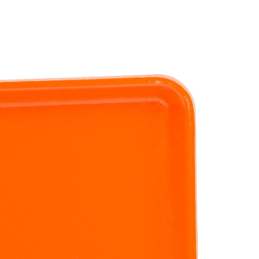 "Cambro 1222D222 Rectangular Dietary Tray - For Patient Feeding, 12x22"" Orange Pizzazz"