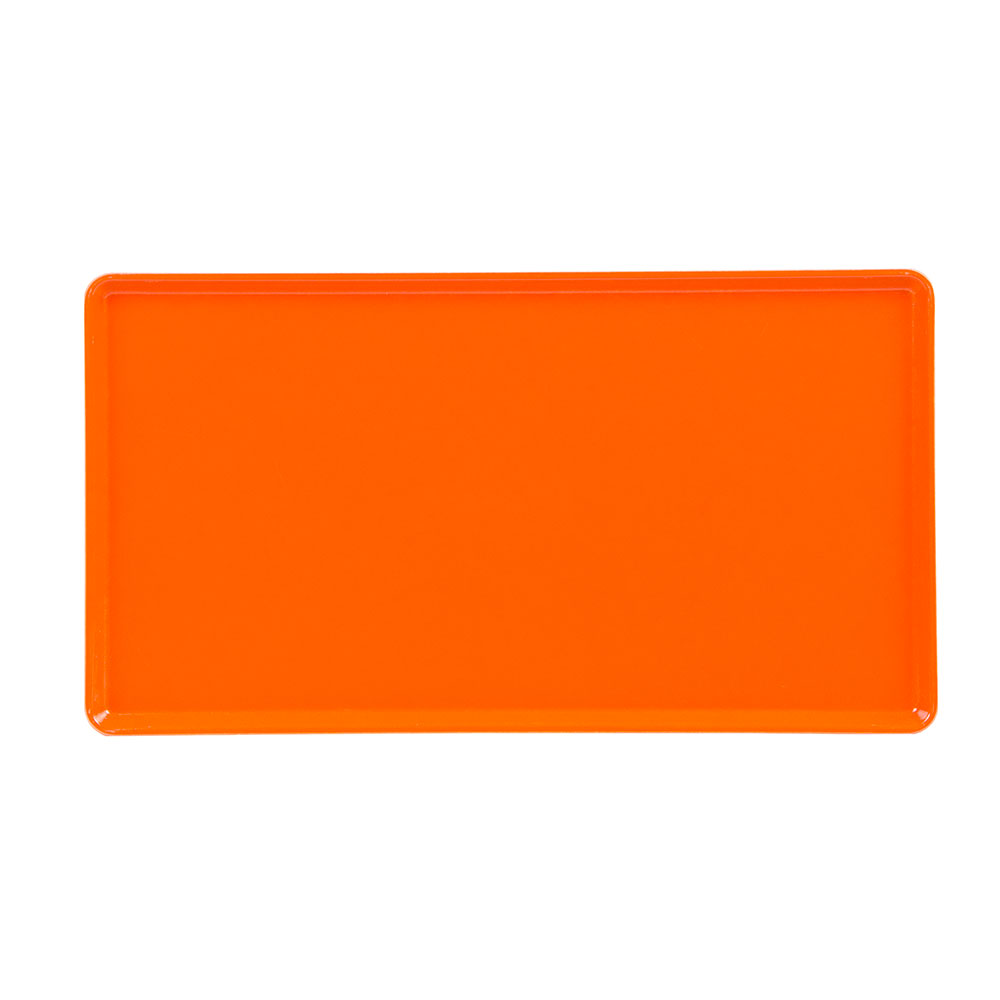 "Cambro 1222D222 Rectangular Dietary Tray - For Patient Feeding, 12x22"" Orange Pizzazz"