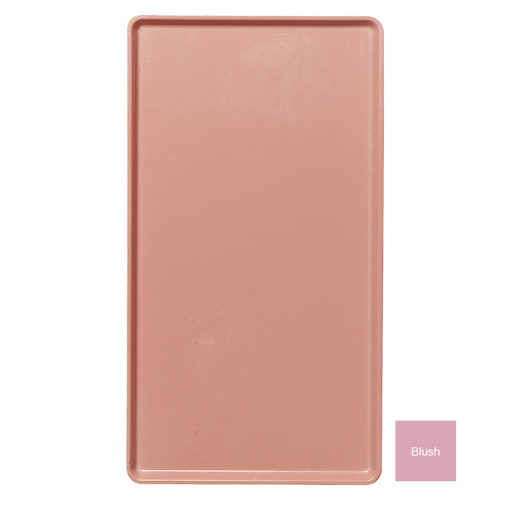 """Cambro 1222D409 Rectangular Dietary Tray - For Patient Feeding, 12x22"""" Blush"""
