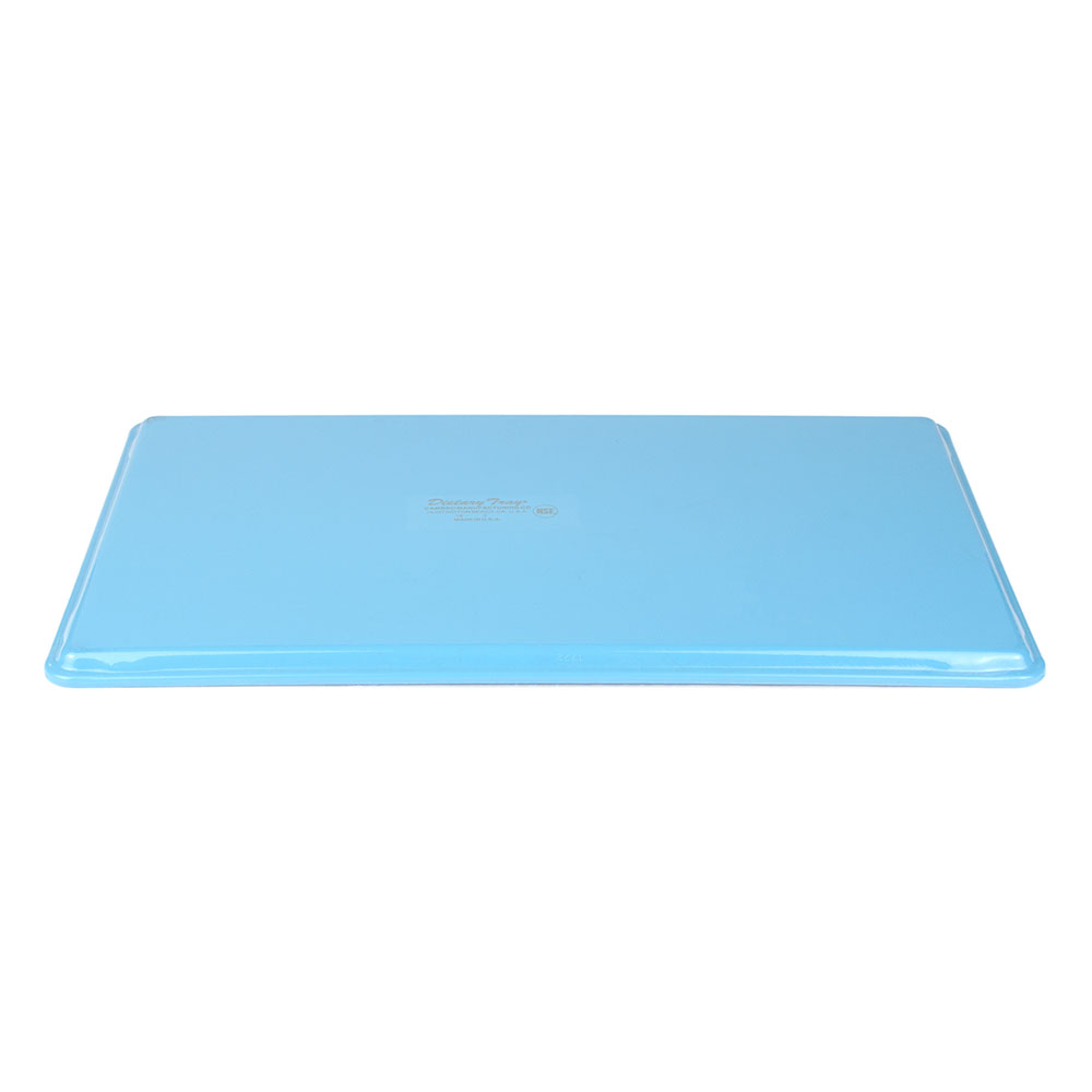 "Cambro 1222D518 Rectangular Dietary Tray - For Patient Feeding, 12x22"" Robin Egg Blue"