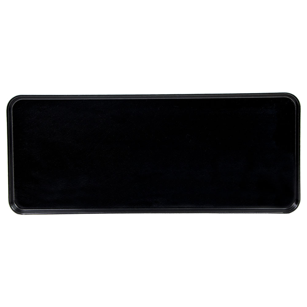 "Cambro 1230MT110 Rectangular Market Display Tray - 12-7/16x30x3/4"" Black"